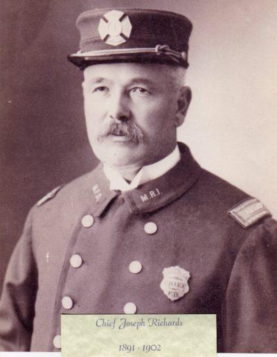 1 - Chief Joseph Richards 1891 - 1902