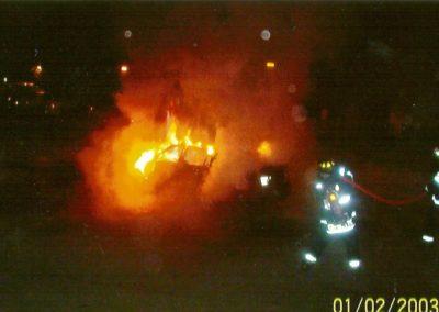 holidy car fire